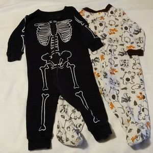 3 - 6 months, skeleton costume and fox that's what